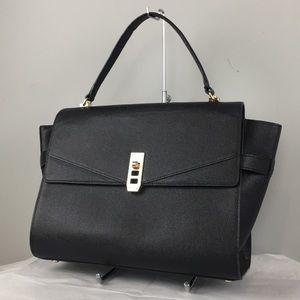 Henri Bendel Uptown Satchel handbag purse Black